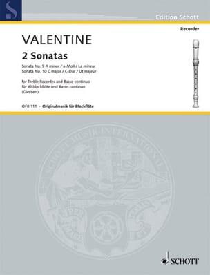 Sonaten Nr. 9 und 10 - Altblockflöte u. Bc laflutedepan