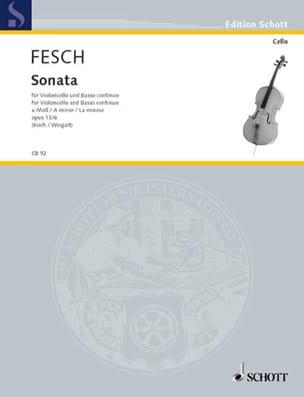 Sonate la mineur op. 13 n° 6 Willem de Fesch Partition laflutedepan