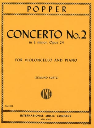 Concerto n° 2 en mi mineur op. 24 David Popper Partition laflutedepan