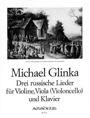 3 Russische Lieder GLINKA Partition Trios - laflutedepan