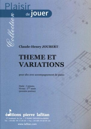 Thème et variations - Alto Claude-Henry Joubert Partition laflutedepan