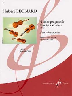 Solo A en mi mineur op. 62 Hubert Léonard Partition laflutedepan