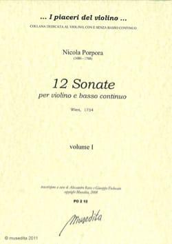 12 Sonates Volume 1-2 - Violon et Bc - laflutedepan.com