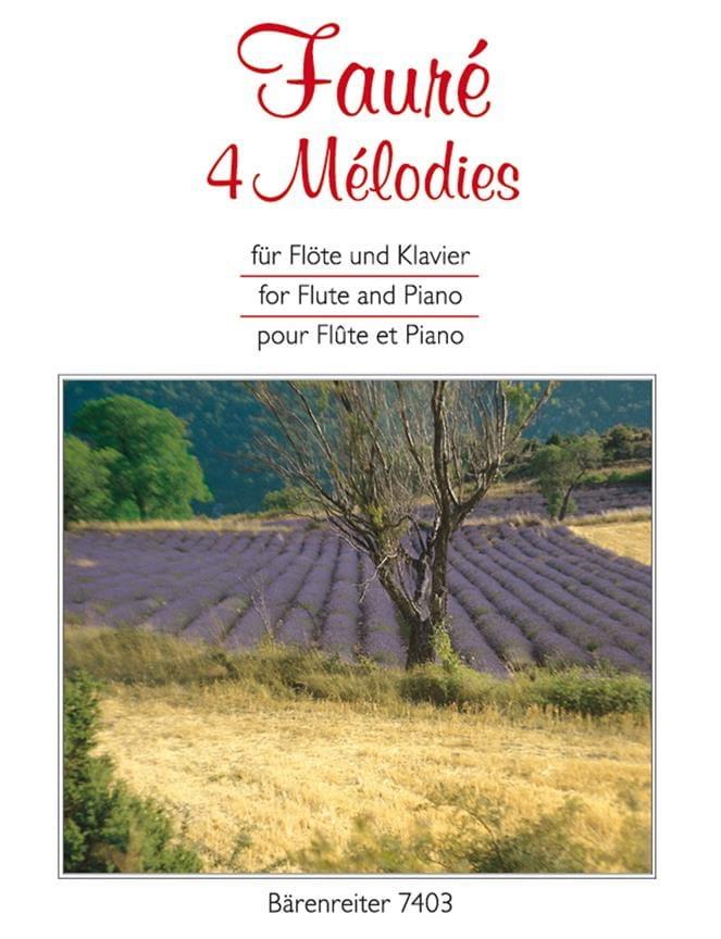 4 Mélodies - FAURÉ - Partition - Flûte traversière - laflutedepan.com