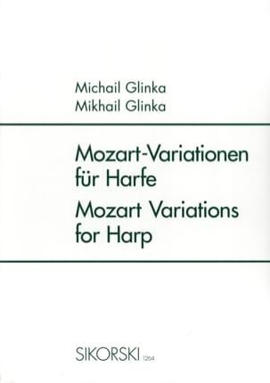 Mozart-Variationen Für Harfe - Harpe GLINKA Partition laflutedepan