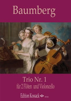 Trio n° 1 - 2 Flûtes et violoncelle J. C. Baumberg laflutedepan