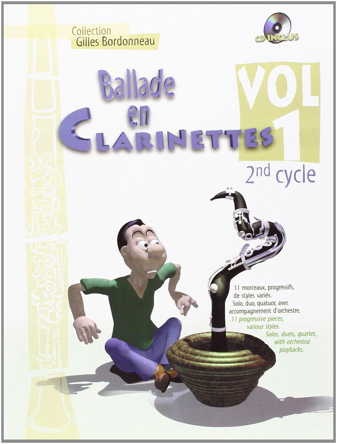 Ballade en clarinettes - Volume 1 Cycle 2 - laflutedepan.be