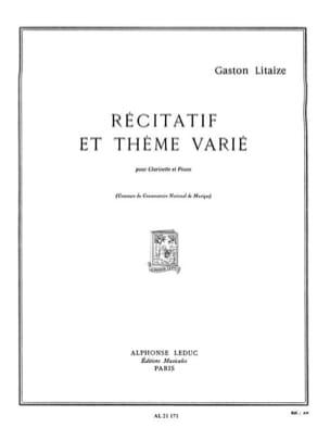 Récitatif et Thème varié Gaston Litaize Partition laflutedepan