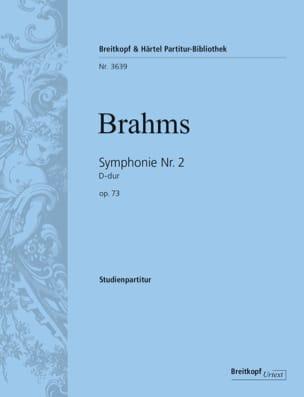 Symphonie N° 2 D-Dur Op. 73 BRAHMS Partition laflutedepan