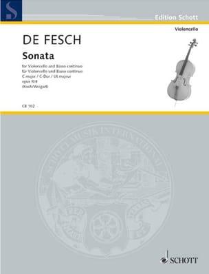 Sonata C-Dur, op. 8 n° 4 Willem de Fesch Partition laflutedepan