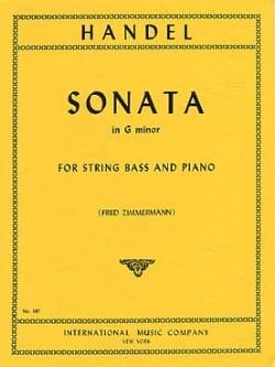 Sonata in G minor HAENDEL Partition Contrebasse - laflutedepan