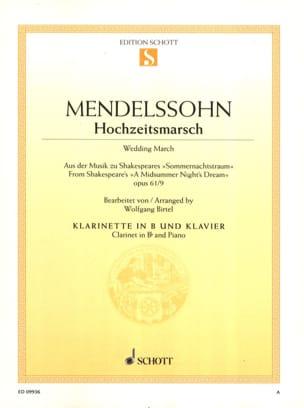 Marche nuptiale, op. 61/9 MENDELSSOHN Partition laflutedepan