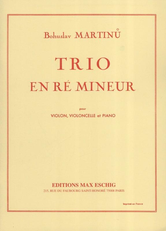 Trio en ré mineur - MARTINU - Partition - Trios - laflutedepan.com