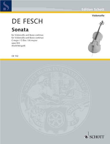 Sonata C-Dur, op. 8 n° 4 - Willem de Fesch - laflutedepan.com