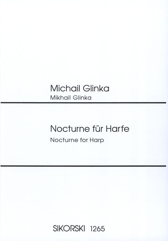 Nocturne - GLINKA - Partition - Harpe - laflutedepan.com