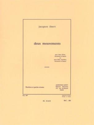 2 Mouvements - 2 Flûtes-Clarinette-Basson - IBERT - laflutedepan.com