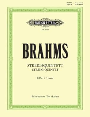 Streichquintett in F-Dur op. 88 - Stimmen BRAHMS laflutedepan