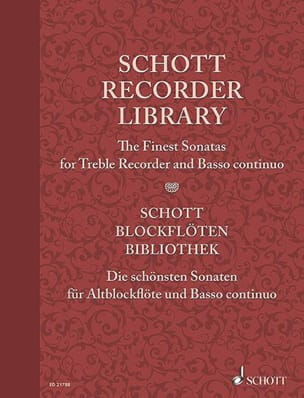 The finest Sonatas for Treble Recorder and BC Partition laflutedepan
