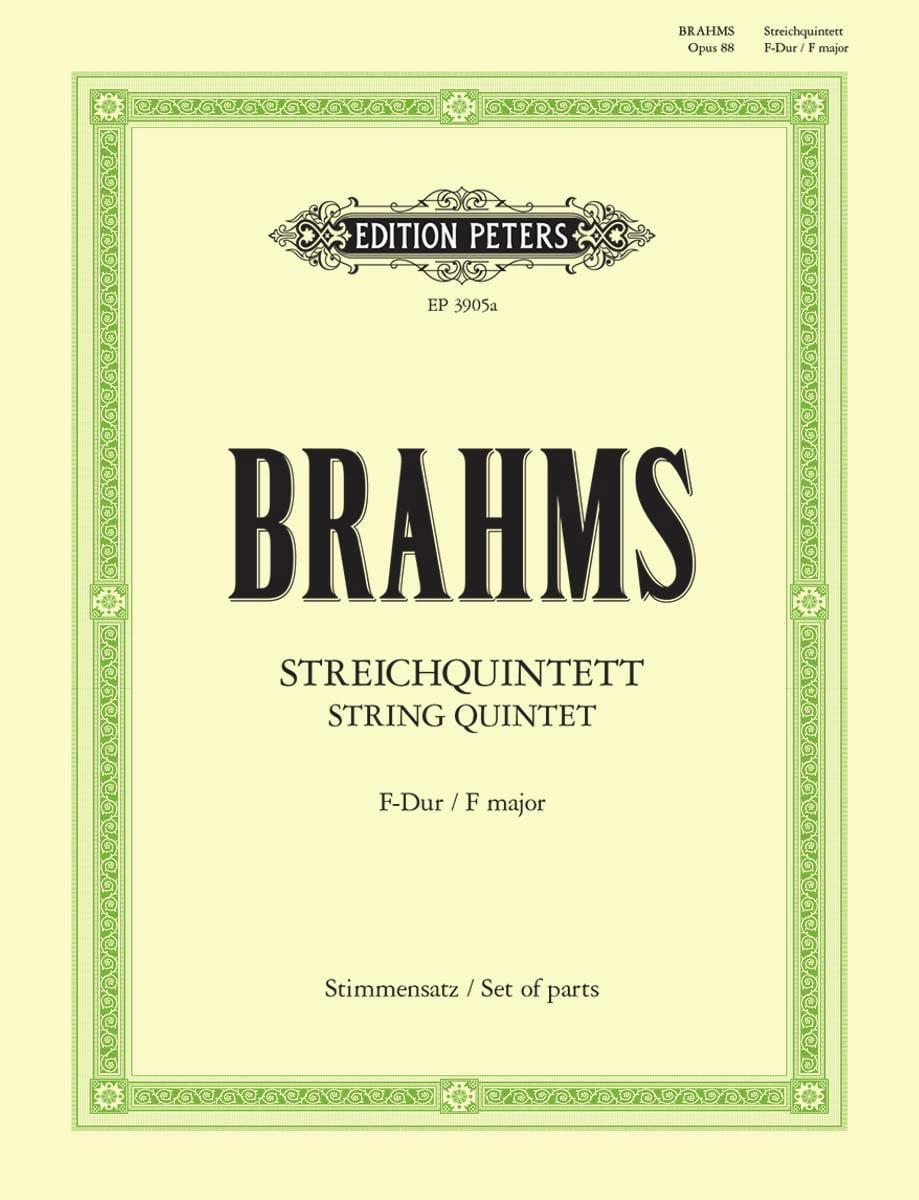Streichquintett in F-Dur op. 88 - Stimmen - BRAHMS - laflutedepan.com