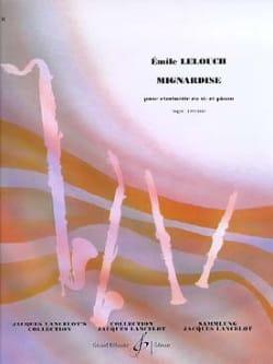 Mignardise Emile Lelouch Partition Clarinette - laflutedepan