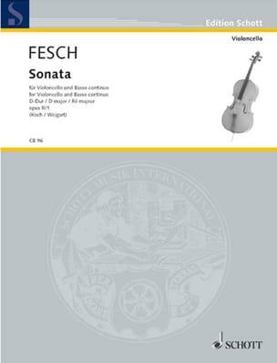 Sonata D-Dur, op. 8 n° 1 Willem de Fesch Partition laflutedepan