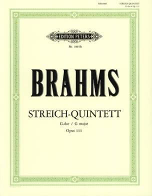 Streichquintett G-Dur op. 111 -Stimmen BRAHMS Partition laflutedepan