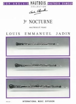 3ème Nocturne Louis Emmanuel Jadin Partition Hautbois - laflutedepan