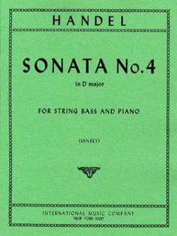 Sonata n° 4 in D major - String bass - HAENDEL - laflutedepan.com