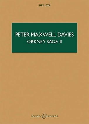 Orkney Saga II Davies Peter Maxwell Partition laflutedepan