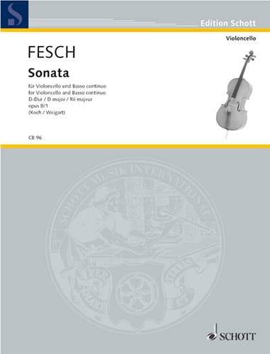 Sonata D-Dur, op. 8 n° 1 - Willem de Fesch - laflutedepan.com