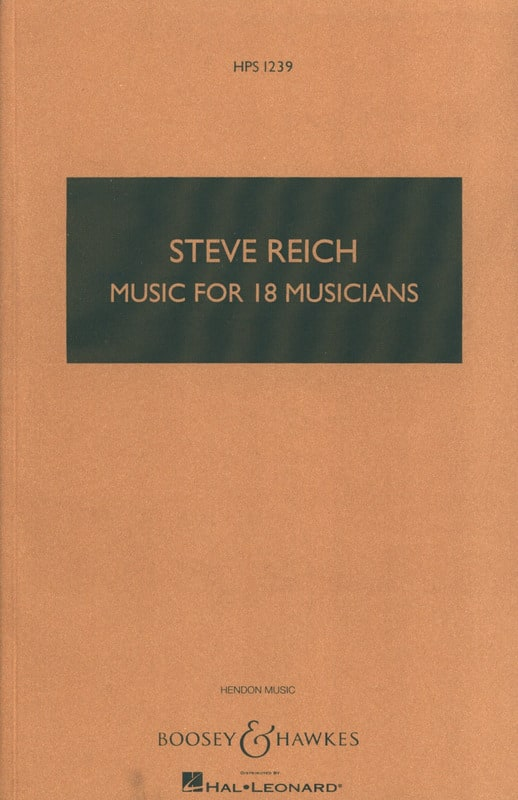 Music For 18 Musicians - Steve Reich - Partition - laflutedepan.com