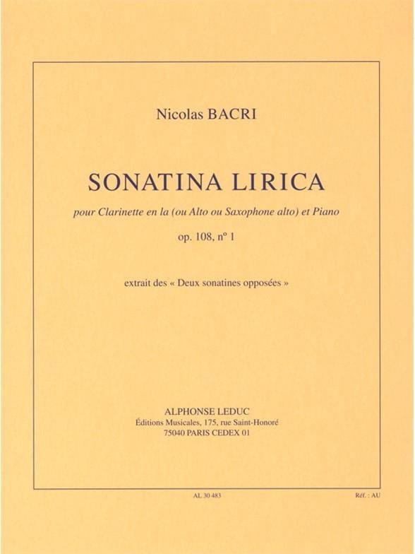 Sonatina Lirica Op.108 N°1 - Nicolas Bacri - laflutedepan.com