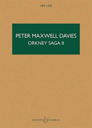 Orkney Saga II - Davies Peter Maxwell - Partition - laflutedepan.com