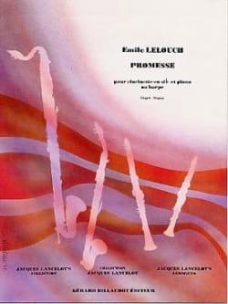 Promesse Emile Lelouch Partition Clarinette - laflutedepan