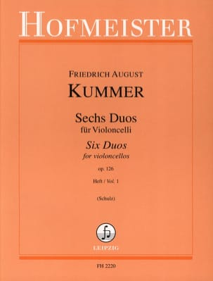 6 Duos op. 126 Heft 1 Friedrich-August Kummer Partition laflutedepan