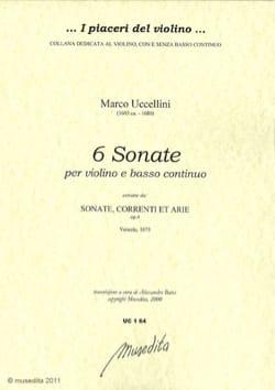 6 Sonates -Violon et Bc Marco Uccellini Partition laflutedepan