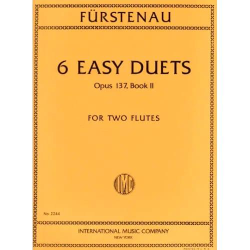 6 Easy duets, op. 137 Volume 2 - 2 Flutes - laflutedepan.com