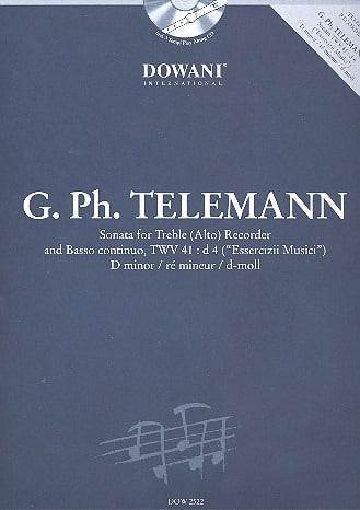 Sonata in D min. TWV 41 : d4 -Treble recorder Bc - laflutedepan.com
