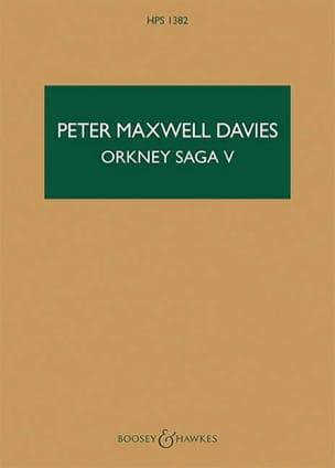 Orkney Saga V Davies Peter Maxwell Partition laflutedepan