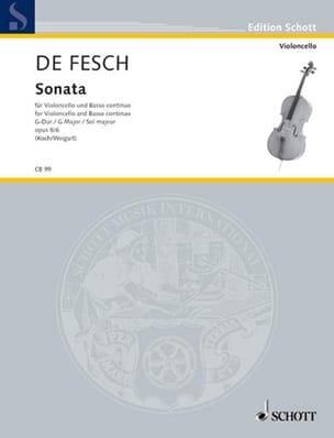 Sonata G-Dur, op. 8 n° 6 - Willem de Fesch - laflutedepan.com