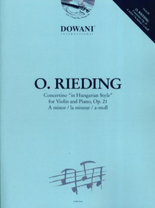Oskar Rieding - Concertino op. 21 in un minore - Partition - di-arezzo.it