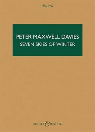 Seven Skies of Winter Davies Peter Maxwell Partition laflutedepan