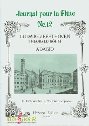 Adagio - Flûte et piano - BEETHOVEN - Partition - laflutedepan.com