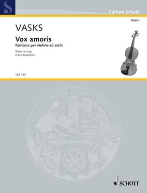 Vox Amoris Peteris Vasks Partition Violon - laflutedepan