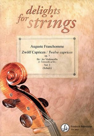 12 Caprices Op.7 Vol.2 Auguste Franchomme Partition laflutedepan