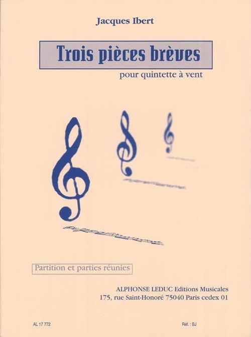 3 Pieces brèves - Partition + parties - IBERT - laflutedepan.com