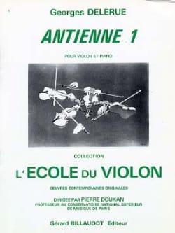 Antienne 1 Georges Delerue Partition Violon - laflutedepan