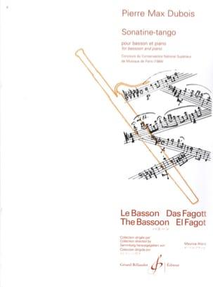 Sonatine Tango Pierre-Max Dubois Partition Basson - laflutedepan