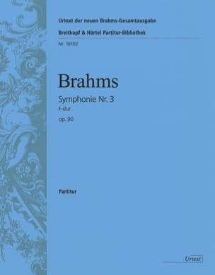 Symphonie N° 3 F-Dur Fa Maj., Op. 90 - Conducteur BRAHMS laflutedepan