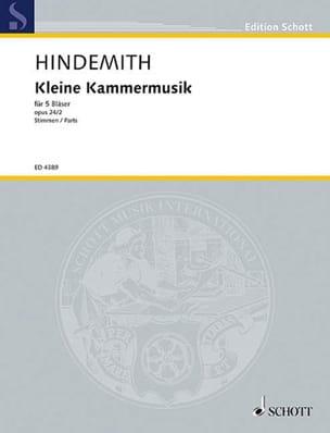 Kleine Kammermusik op. 24 n° 2 - 5 Bläser - Stimmen laflutedepan